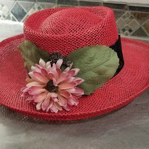 RED COUNTRY CHIC HAT
